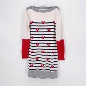 Girls' Gap x Disney Mickey Striped Sweater Dress